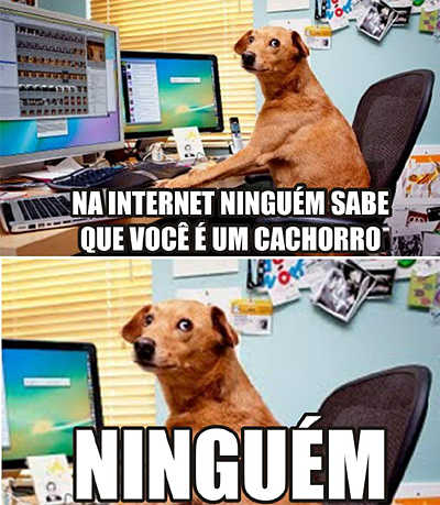 Na internet ninguém sabe...