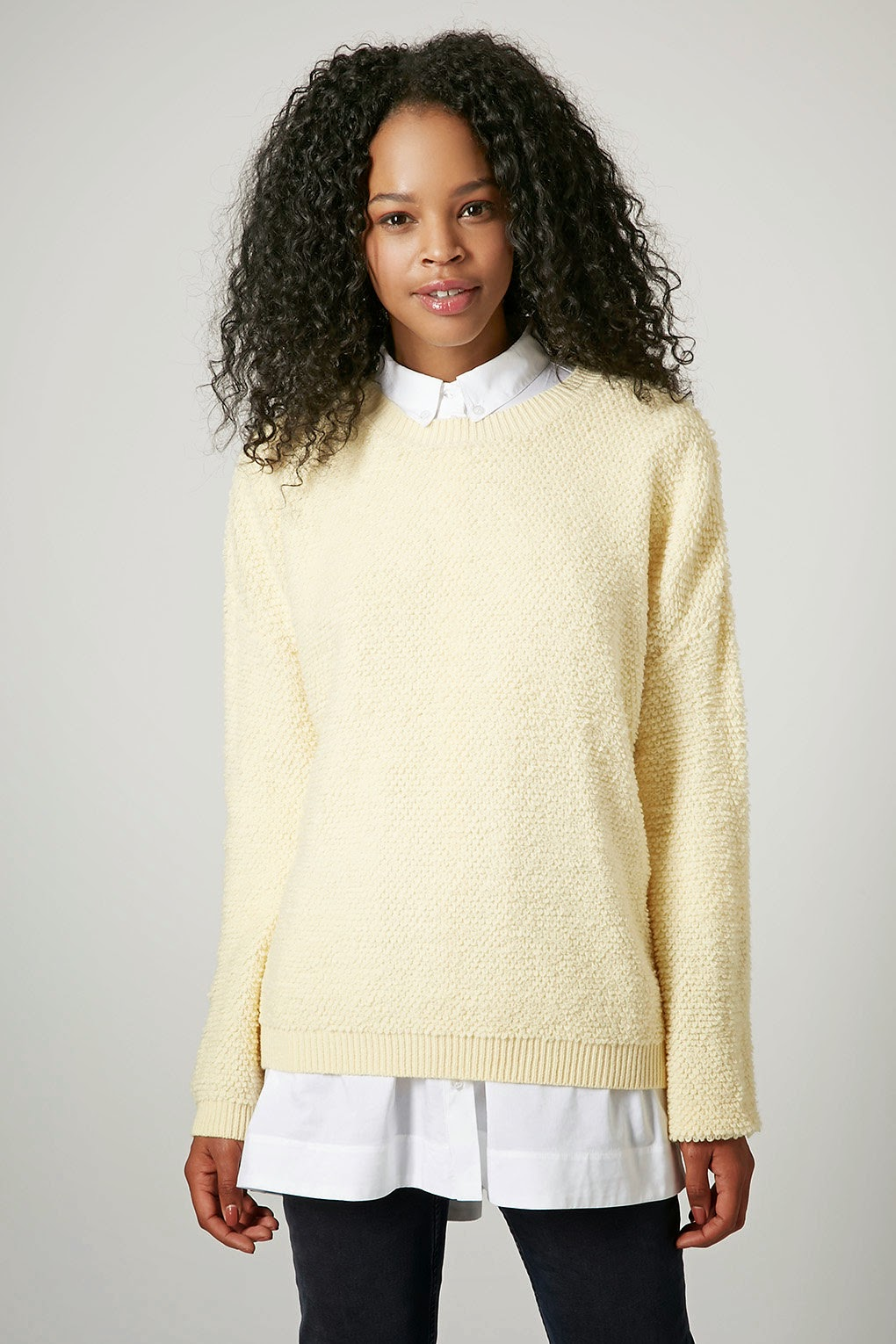 cream topshop jumper