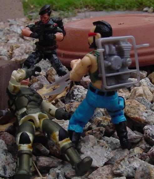 2004 Anti Venom Barricade, TRU Exclusive, 2004 Night Force Flint, Funskool Ripper