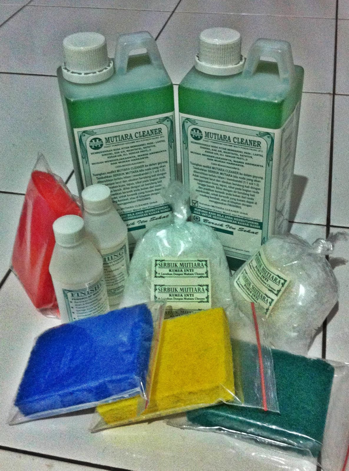 Paket Mutiara Cleaner  Harga Tebal Rp 142.500,-/ Paket  serba satu