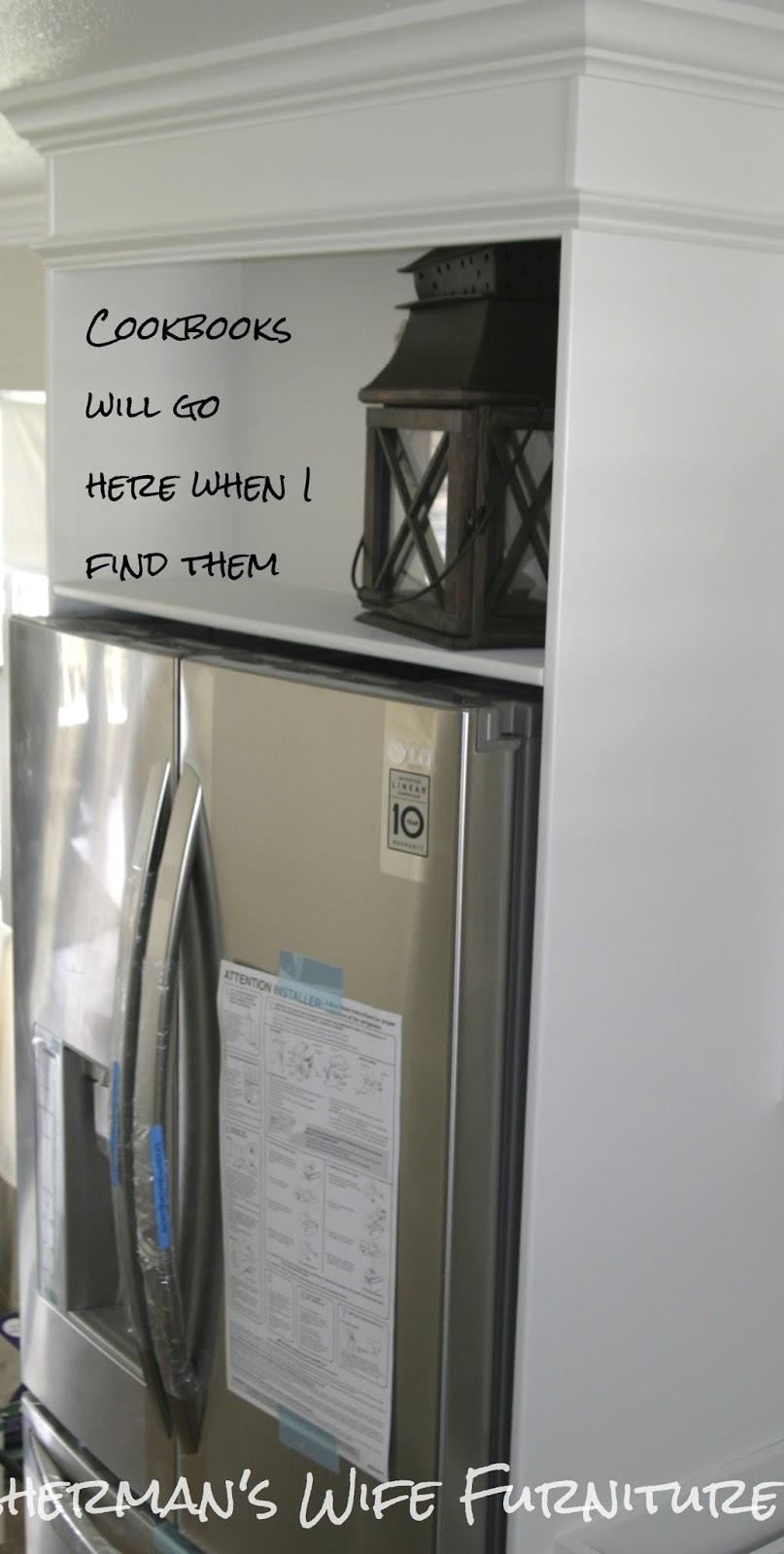Fisherman's Wife Furniture: DIY Refrigerator Enclosure