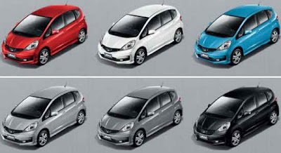 Honda Jazz มีให้เลือก 6 สี