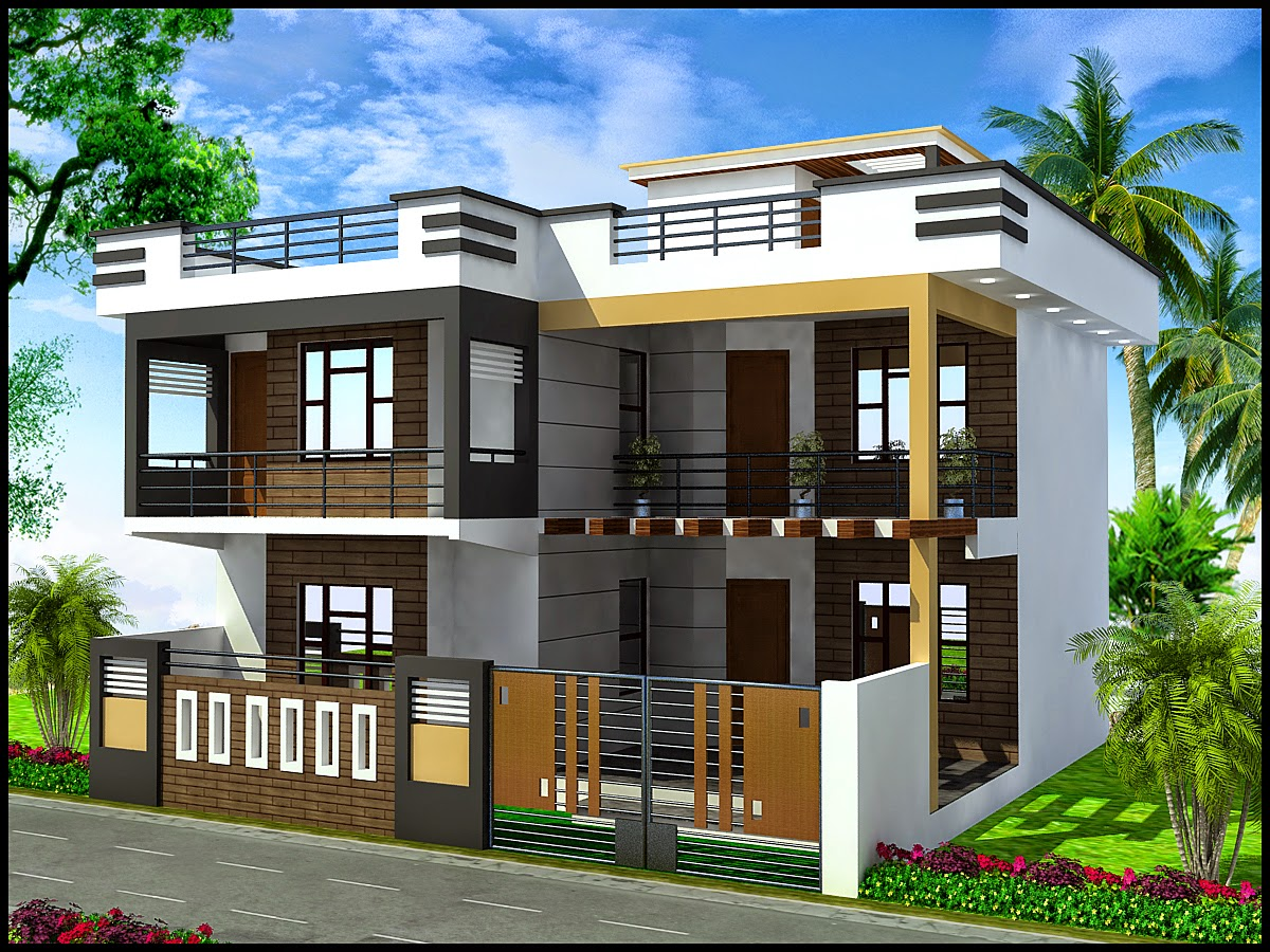 Front Elevation Of Duplex : Ghar planner leading house plan and design