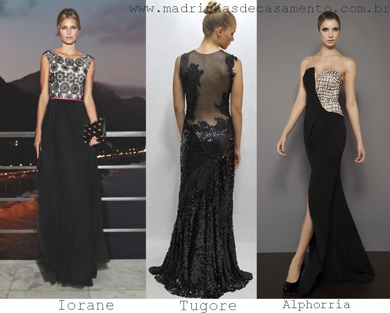 Modelo de vestido preto para festa