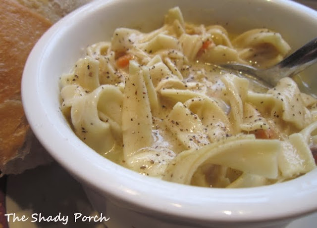 Homemade Chicken Noodle Soup by The Shady Porch