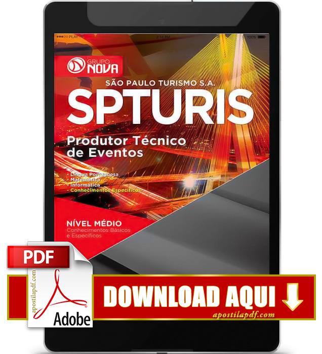Apostila SPTuris 2015 Produtor Técnico de Eventos PDF Download