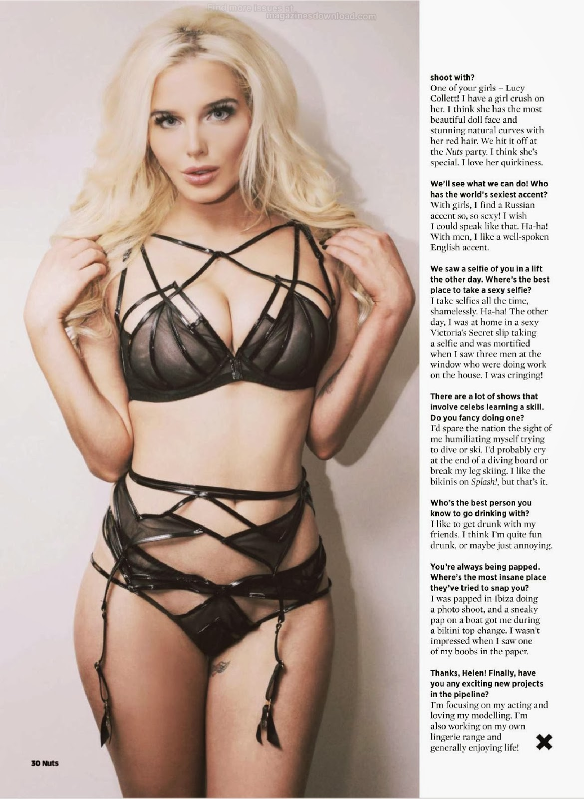 Helen Flanagan HQ Pictures Nuts UK Magazine Cover February 2014