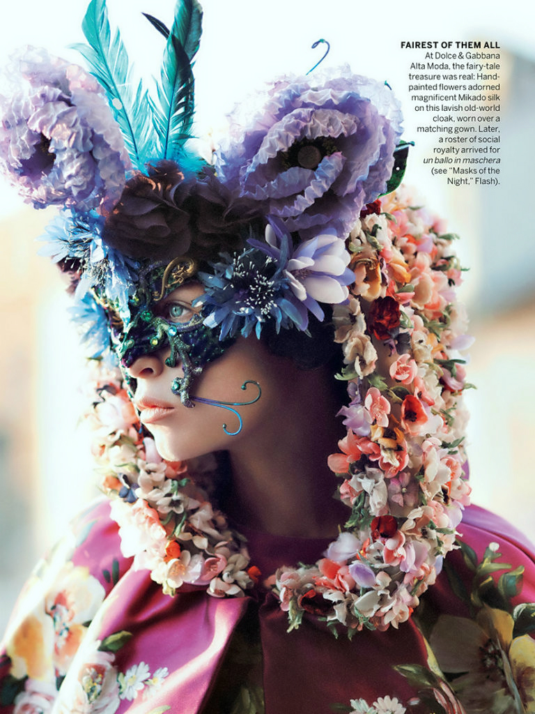 David Sims photography, vogue september issue editorial, cinderella story, grace coddington, dolce and gabbana