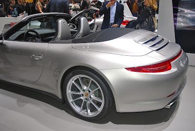 Salon de l'auto de Genève 2013: la 991 cabriolet sur le stand Porsche