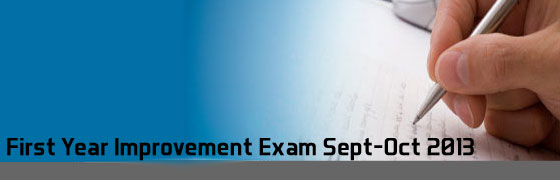 Plus one Improvement exam 2013