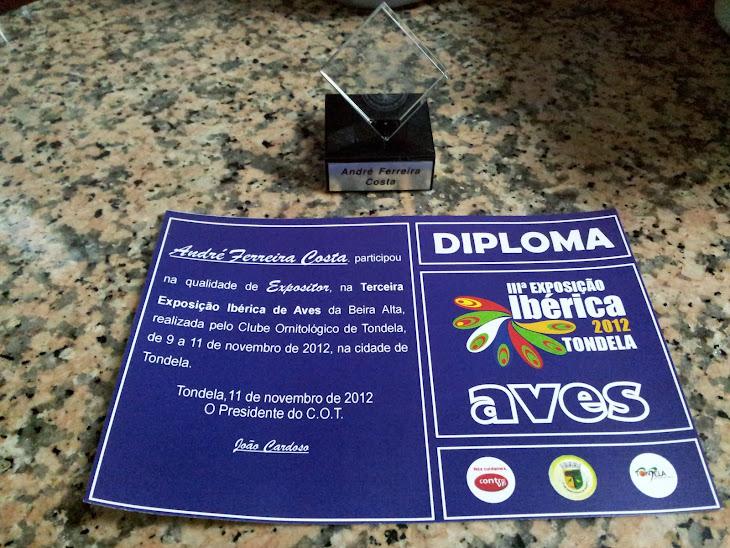 PRÉMIO DE PARTICIPAÇÃO E DIPLOMA DA 3ª EXPOSIÇÃO IBÉRICA