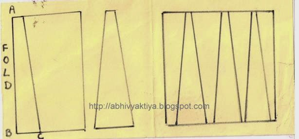 instructions to draft anarkali panels