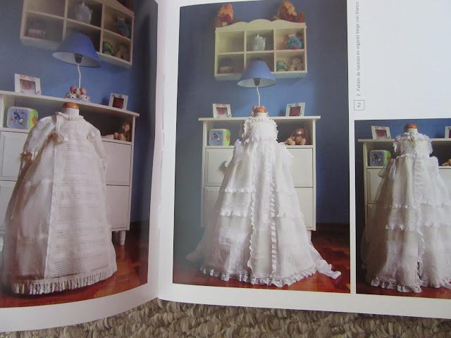 Revista con patrones de costura para ropa de bebé Faldellines Faldones Vestido para bautizo