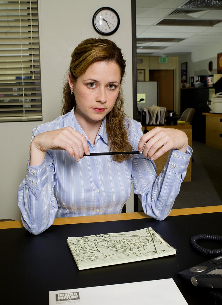 MBTI enneagram type of Pam Beesly