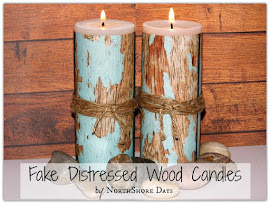 Fake Distressed Wood Candles
