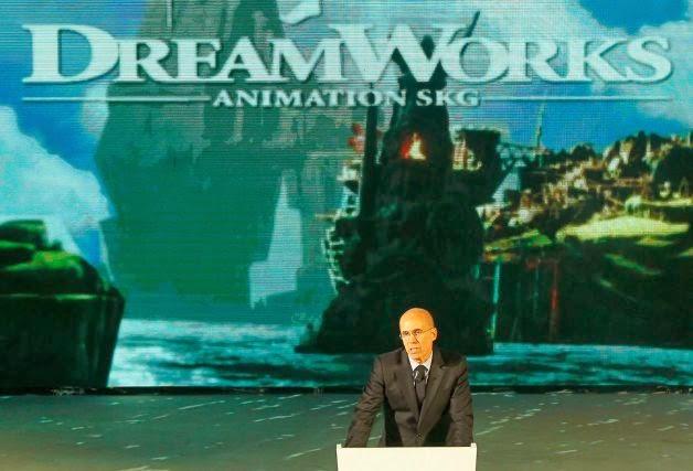 Jeffrey Katzenberg Shanghai DreamCenter DreamWorks Animation animatedfilmreviews.filminspector.com