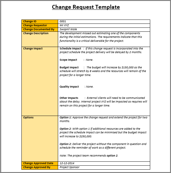 it change management process template change management plan process and templates excel