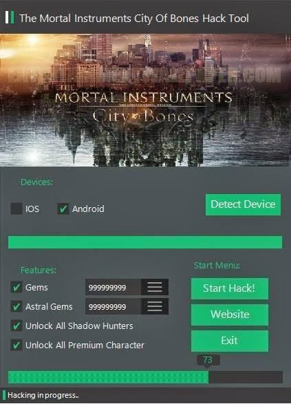The Mortal Instruments City of Bones Hack, The Mortal Instruments City of Bones Cheat Tool, The Mortal Instruments City of Bones Gems Hack, The Mortal Instruments City of Bones Astral Gems Hack