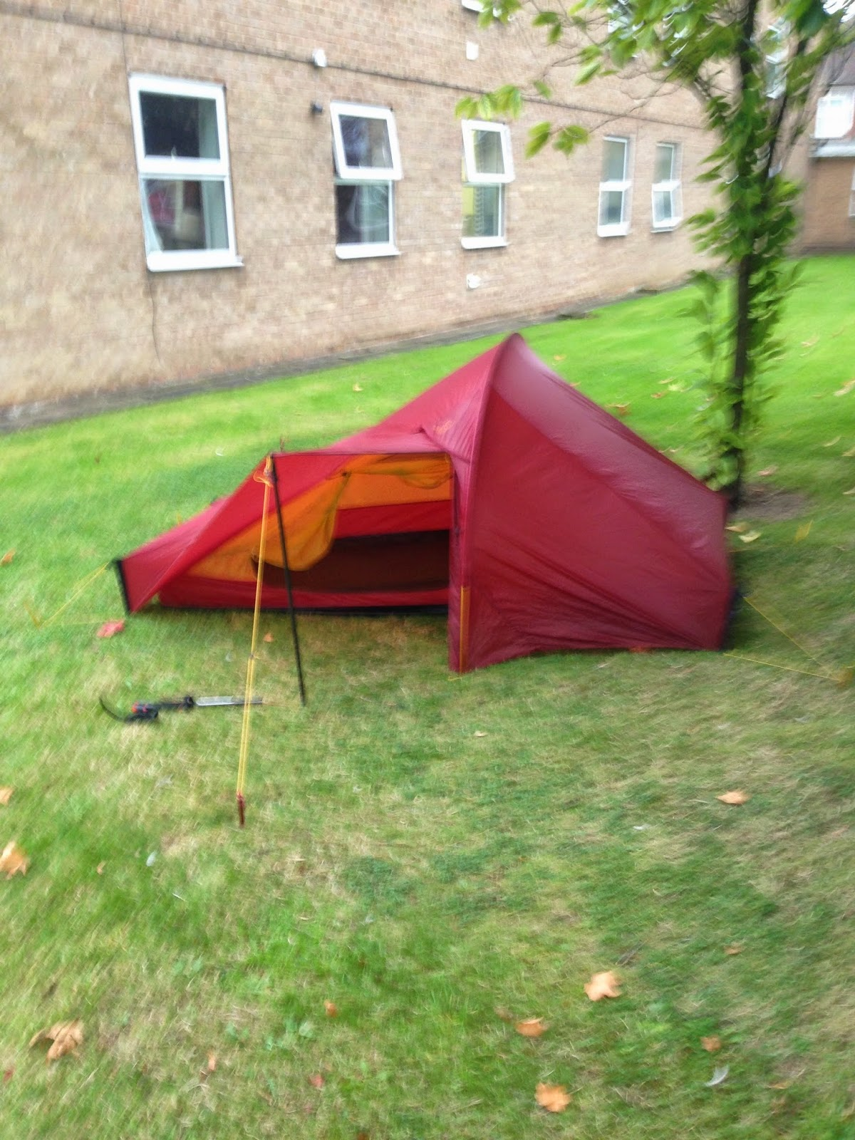 With the vestibule closed down there is a covered vent at the top of the door to allow for airflow through the tent and more unusually at the base of the ... : walking pole tent - memphite.com