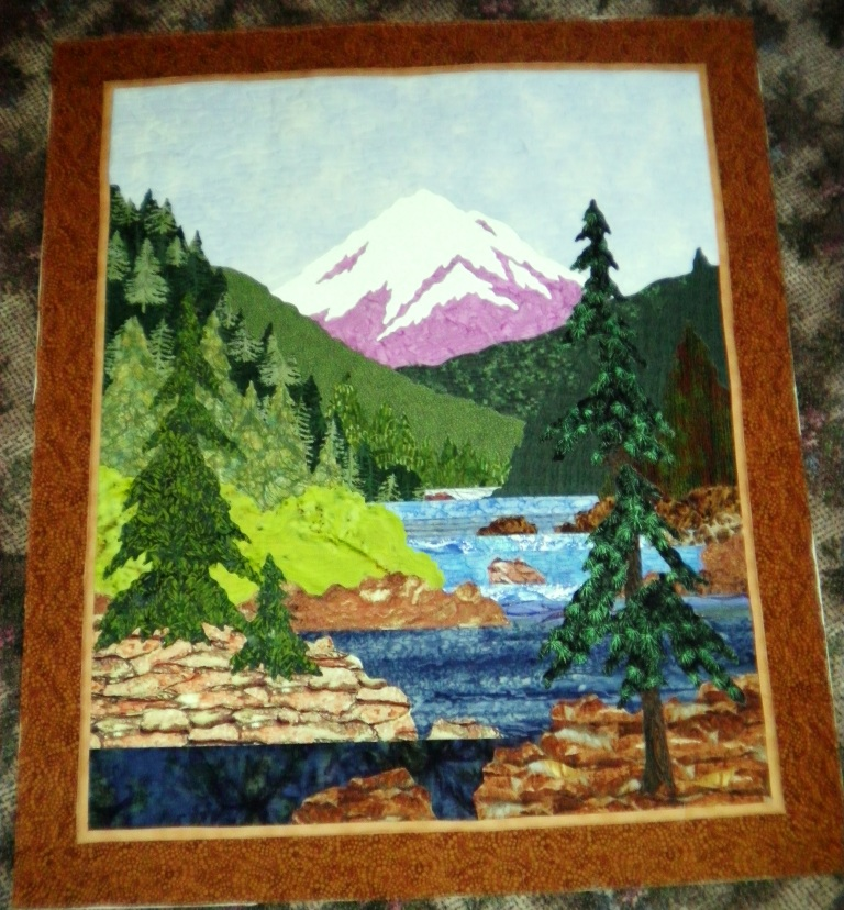 Quilts by Barb - News from Barb: Thread Painting on a Landscape Quilt