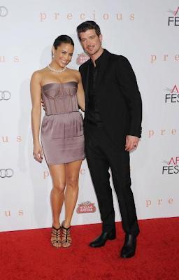Paula Patton and Robin Thicke