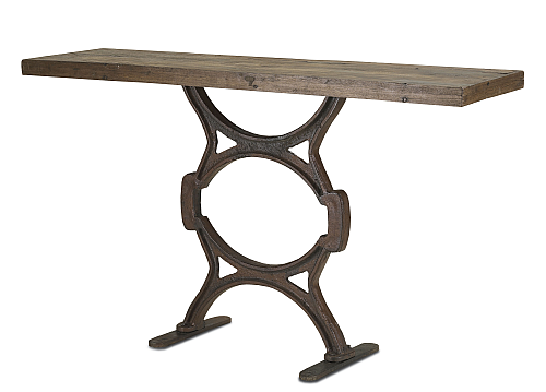 Rustic Narrow Foyer Table : Rustic narrow console table the designer insider