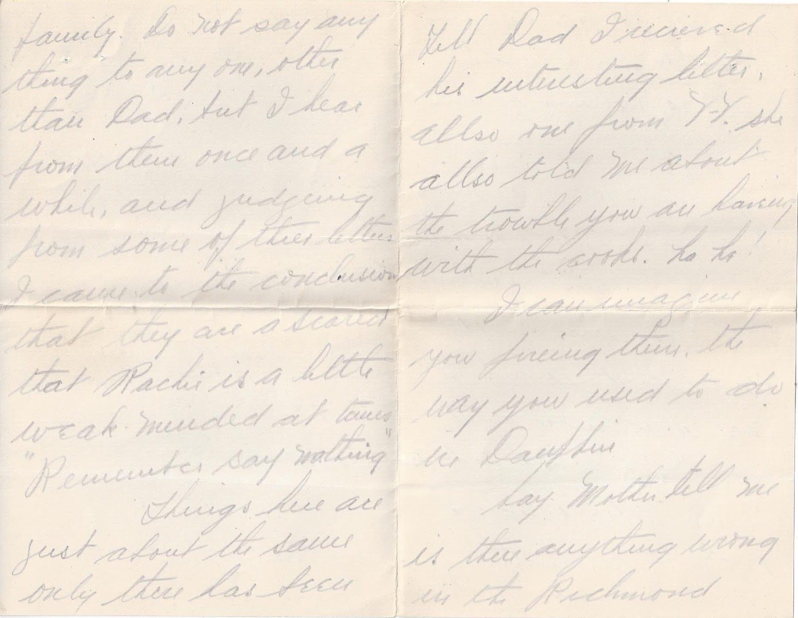March 8th 1915 Letter Pg 2 from the Charley Bailey Collection