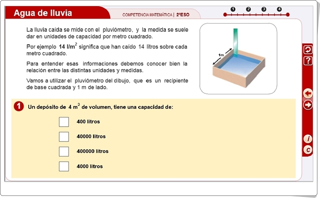 http://proyectodescartes.org/competencias/materiales_didacticos/2ESO_CM_aguadelluvia-JS/index.html