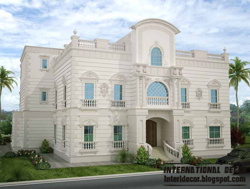 Modern white villa design with lighting 2013 for Villa design