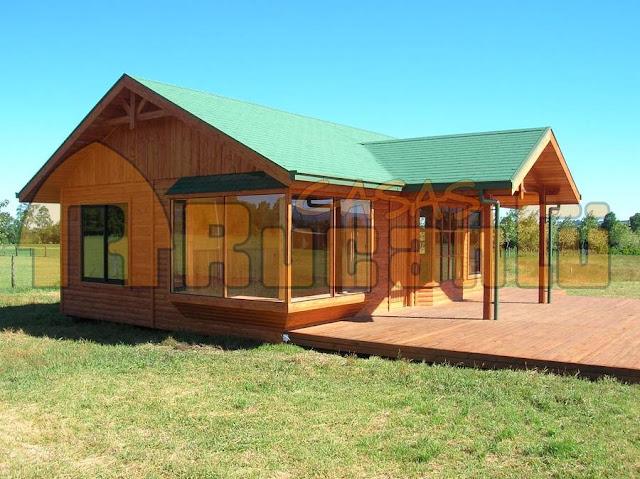 Arquitectura de casas casas y caba as chilenas for Casas de campo prefabricadas