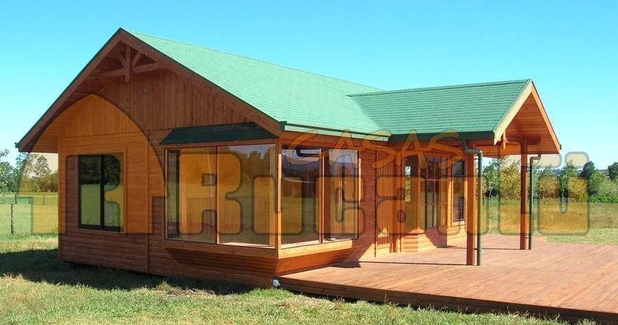 Arquitectura de casas casas y caba as chilenas - Cabanas de madera los pinos ...
