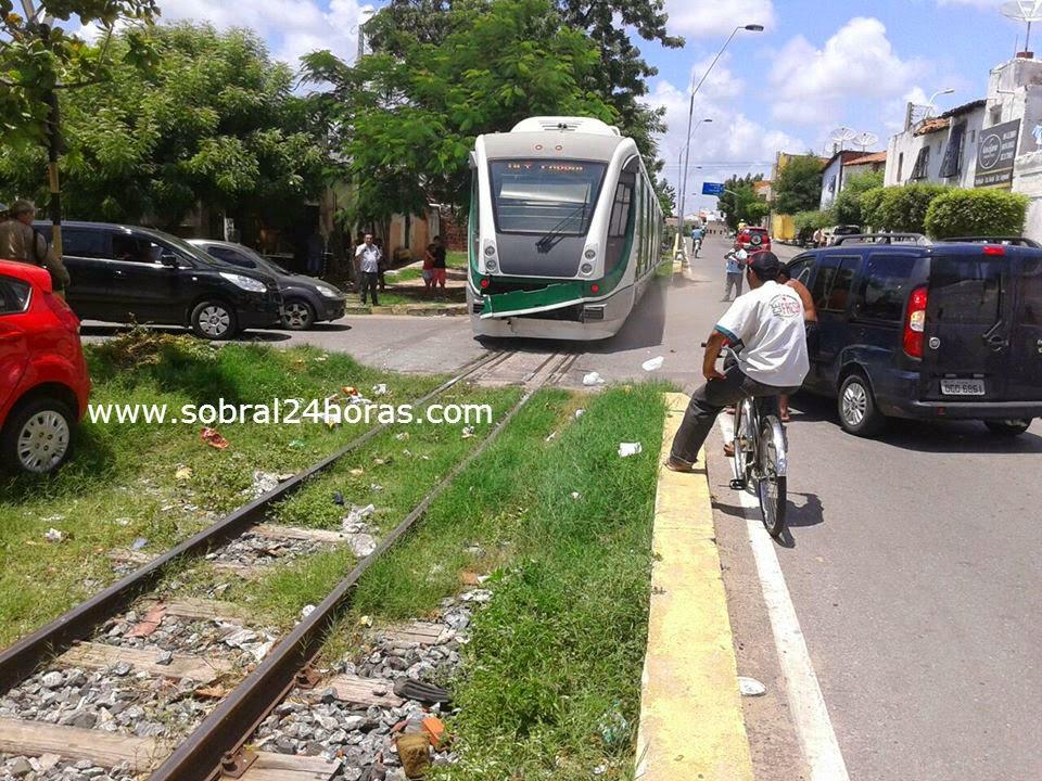 Mais um acidente de trânsito envolvendo o metrô (VLT) é registrado na cidade de Sobral.