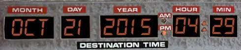 The date for Back to the Future part 2
