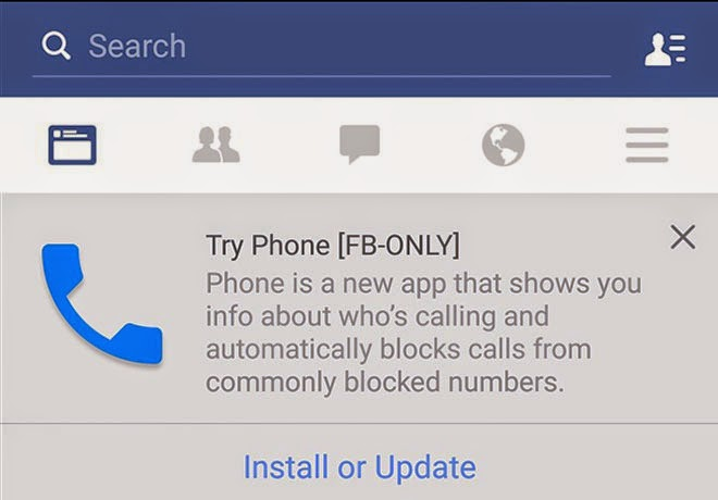 Facebook Ujicoba Aplikasi Telepon Dengan Sesama Pengguna