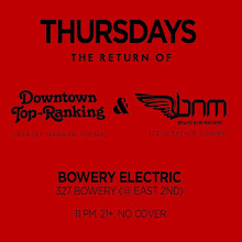 4/27(Thu)The Return of Downtown Top Ranking & Brand New Machine at Bowery Electric