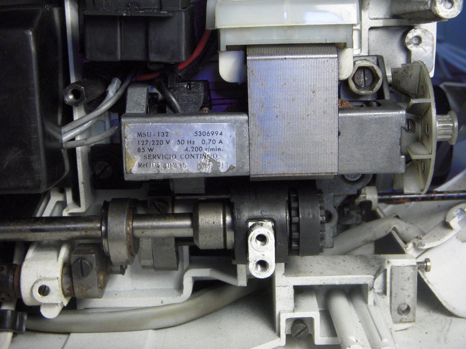 Maquinas de Coser: CAMBIO ESCOBILLAS MOTOR SIGMA 2000