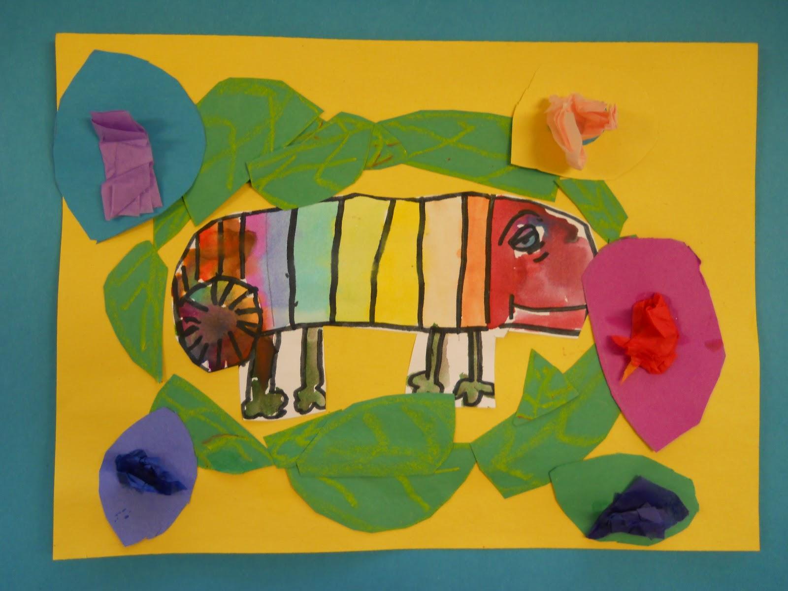 The Elementary Art Room!: Chameleon\'s Colors