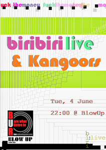 biri biri & Kangaroos live at blow up