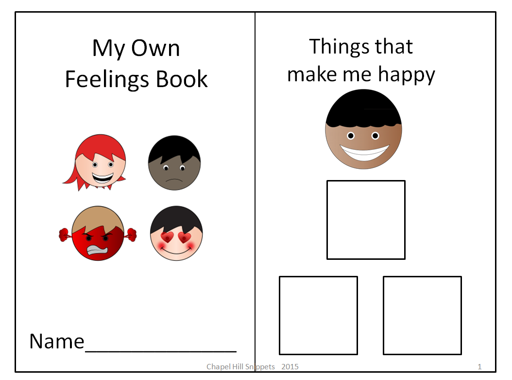 Gorgeous image for feelings book printable