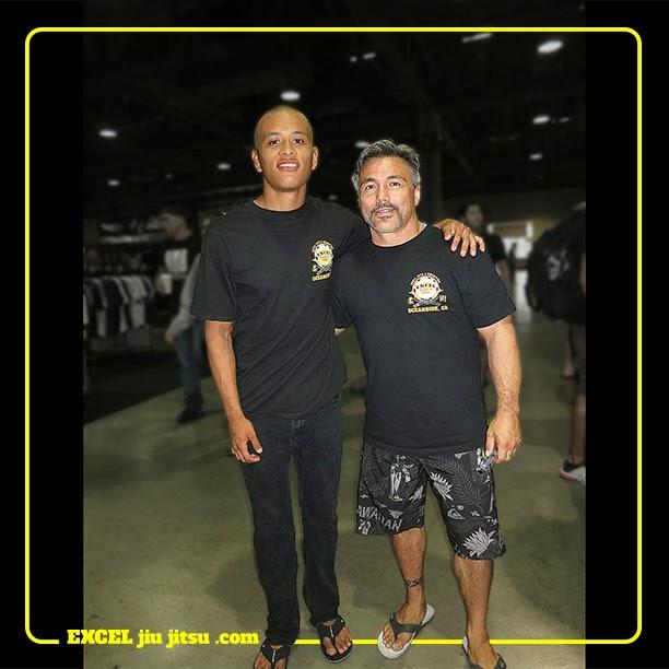 Michio Grubbs with BJJ Jiu Jitsu student Pablo Pantaleon