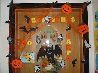 Brujitadelux puertas decoradas halloween for Puertas decoradas halloween