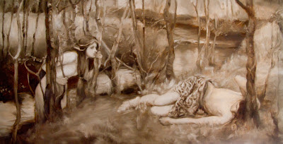 Copy of a J.W. Waterhouse oil painting by Nicole Piar