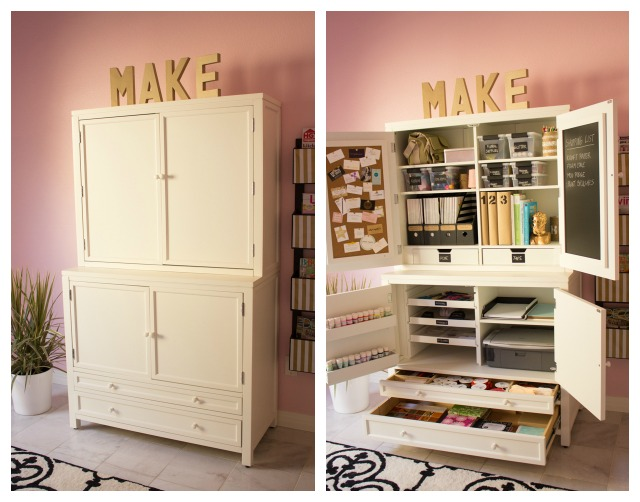 How to create an organized craft room design improvised Craft storage ideas