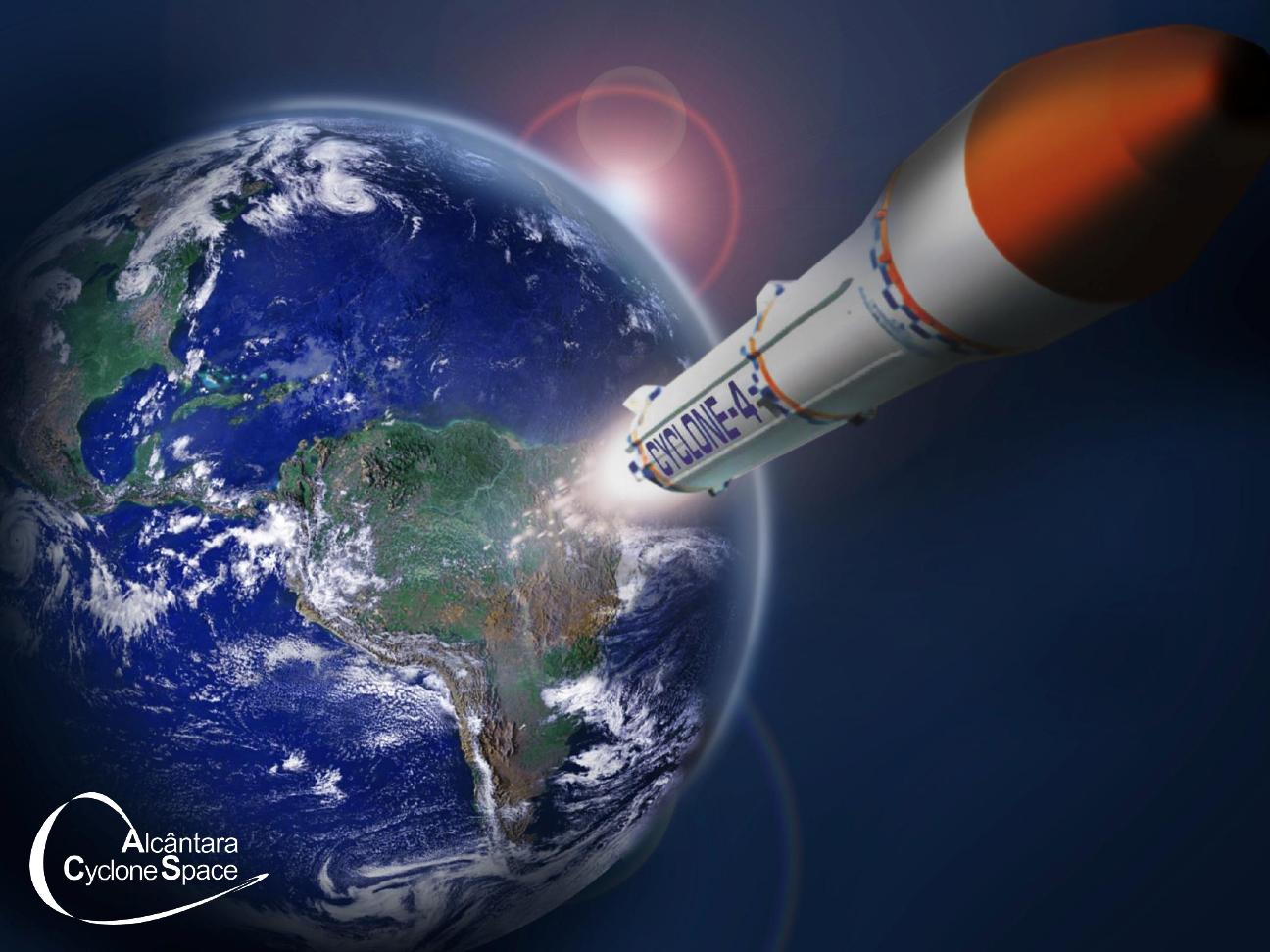 Imagem artística do projeto Cyclone-4, da Alcantara Cyclone Space.