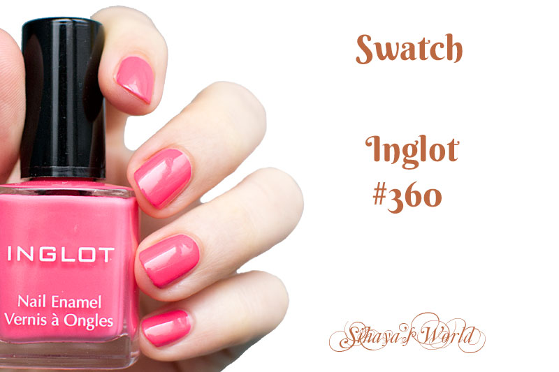 inglot 360 nail polish swatch cover