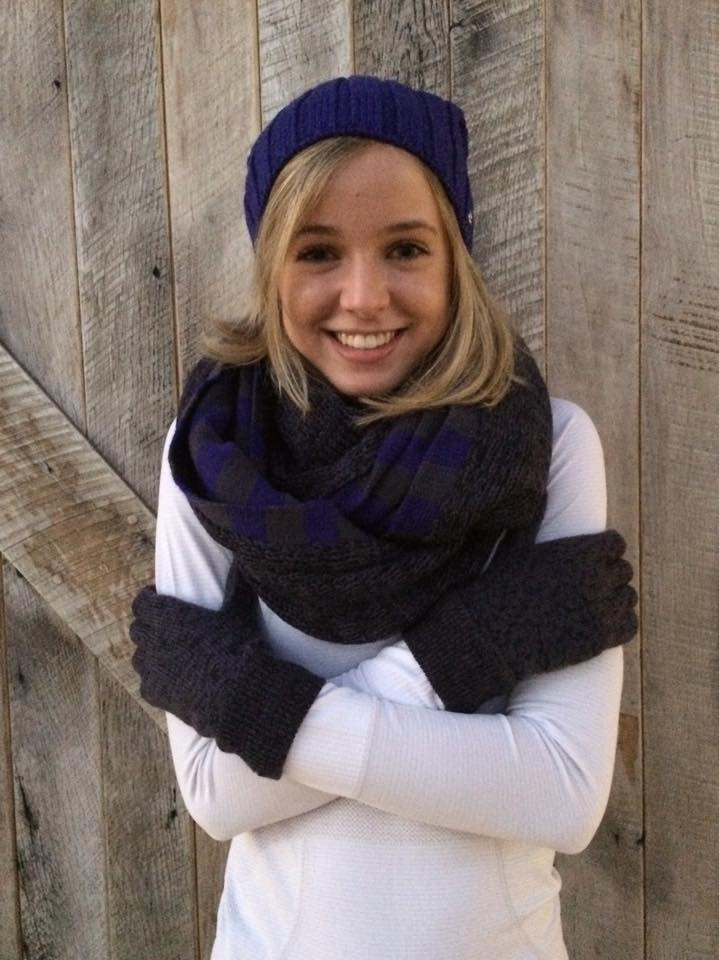 lululemon blissed out scarf hat glove