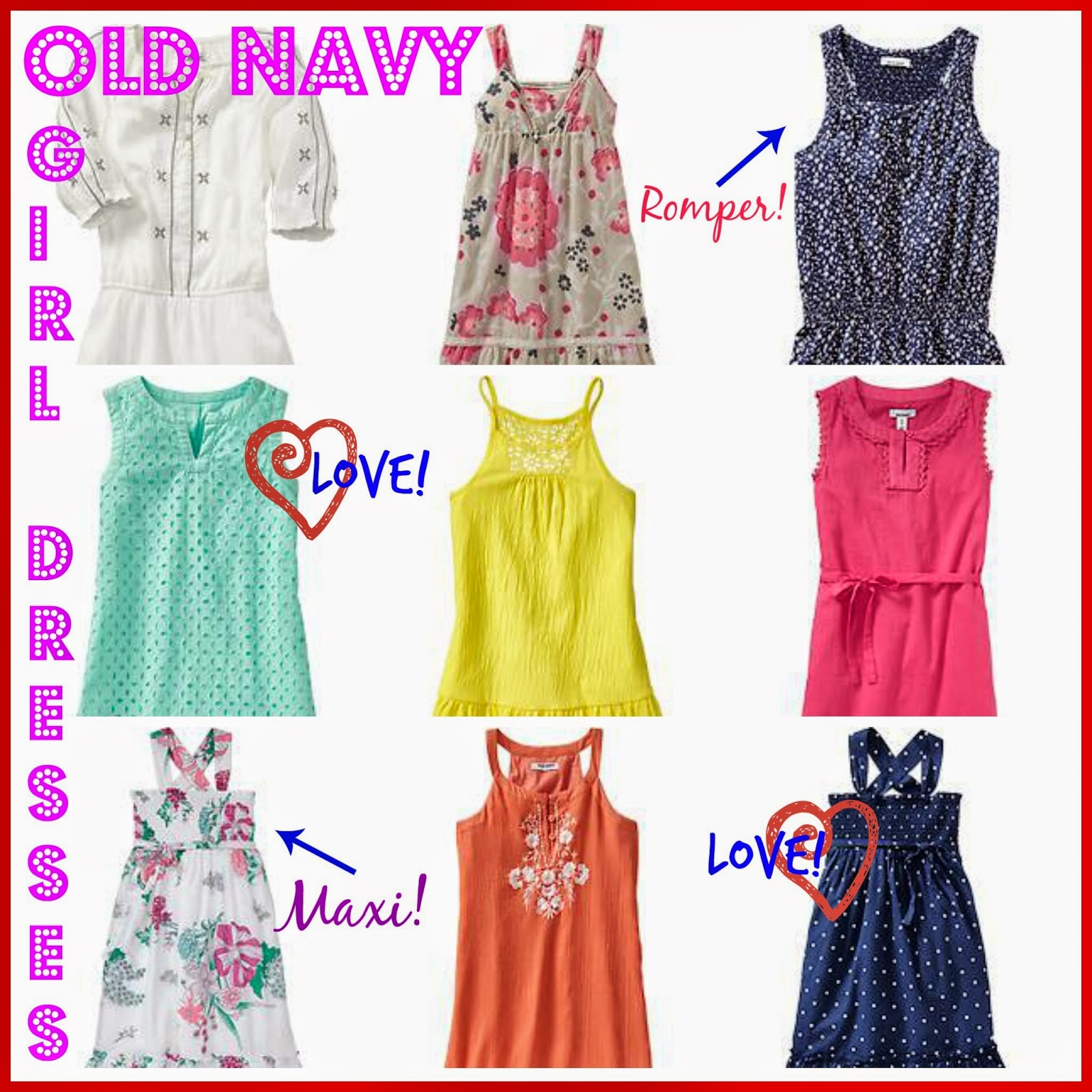 My Favorite Dresses for Girls from Old Navy oldnavybaby Our