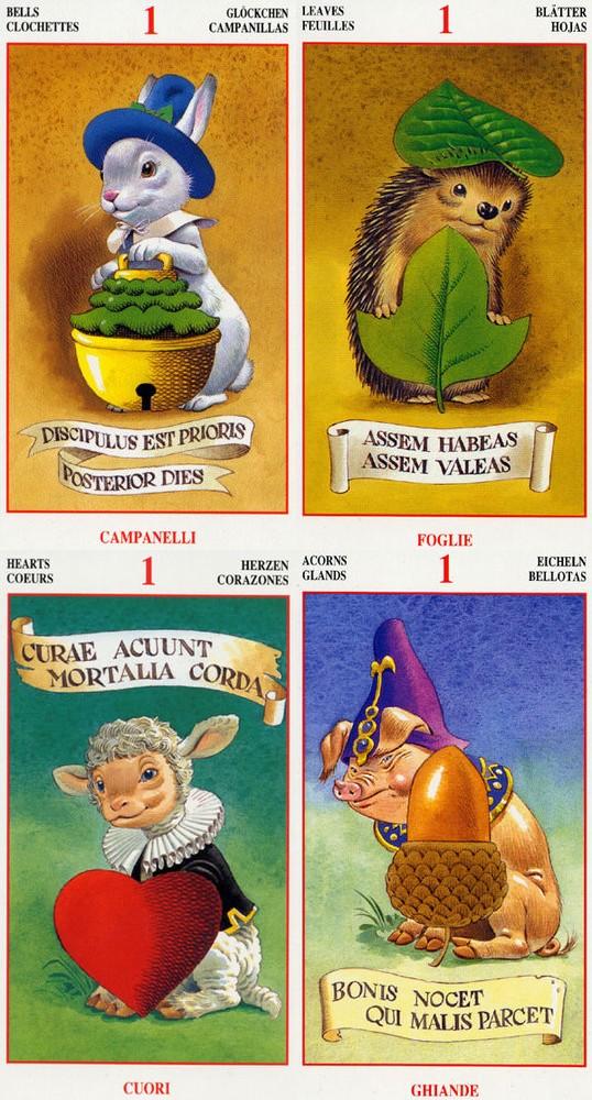 Ace Fairy Tarot ไพ่เอซ แฟรี่ ทาโรต์ ภูติ กระต่าย เม่น hedgehog แกะ ไพ่ยิปซี หมู German Suits ชุดไพ่