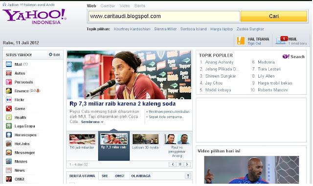 Free Premium Template Blog : Template Yahoo !!