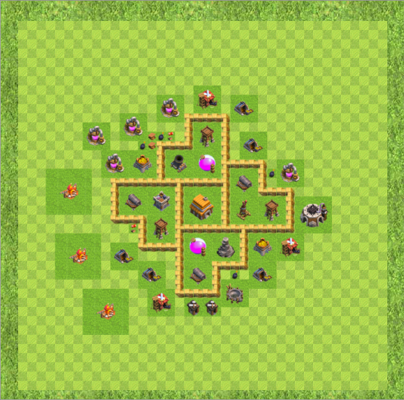 Town Hall Level 5 Trophy Layout: